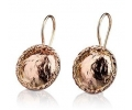 Antique Style Gold Earrings with Naturalistic Texture