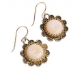 Antique Styled Gold and Silver Designer Earrings Side View