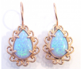 Vintage Style Earrings with Opal