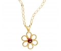 Antique Style Garnet Pendant Necklace