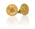 14K gold earrings with a striking design
