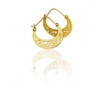 Moon-shaped 14K gold earrings