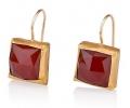 Vintage Style designer 24k Gold  EarringsSide View