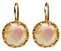 Mother of the Pearl Earrings - front view