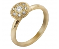 Gold Vintage Ring with Cubic Zirconia
