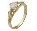 Antique Style Ring with White Opal