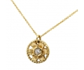 Gold necklace with vintage diamond pendant
