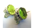 Sterling silver earrings with a lovely peridot stone