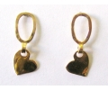 Heart Shaped Vintage Style Gold Earrings