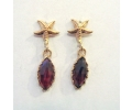Rose Gold Garnet Earrings in the Vintage Style
