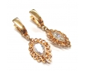 Rose Gold Vintage Style Earrings