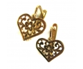 Classic Gold Heart Shaped Earrings