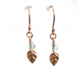 Vintage Rose Gold Earrings with a Lovely Quartz Gemstone