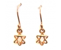 "Classic Rose Gold Earrings shaped as a Jewish ""Star of David"""