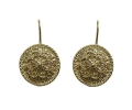 Vintage Design Gold Patterned Earrings