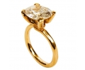 14k Gold Vintage Ring with Zircon side view