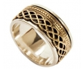 Silver and Gold Vintage ring - side view