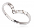 White Gold and Diamond Vintage Style Ring Side View