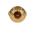 Gold Vintage Ring with a Brown Topaz front view