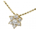 Vintage diamond gold necklace