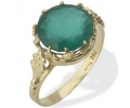 Gold Vintage Ring with Chrysoprase Gemstone side view