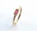 Vintage Art Deco inspired design gold ring.