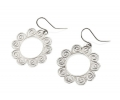 Vintage Style Flower Shaped Silver Earrings