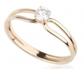 14k Gold and Diamond Ring Side View