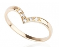 Gold and Diamond Vintage Style Ring Side View
