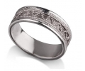 Amazing Silver Vintage Style Wedding Ring side view