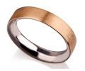 Gold and Silver Vintage Style Wedding Ring Side View