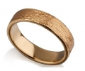 Gold Vintage Style Wedding Ring with an Earthy, Uneven Texture Side View
