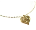 Classic Style Yellow Gold Necklace with a Heart Shaped Pendant