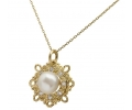Gold, Diamond and Pearl Vintage Necklace