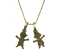 Youthful Style Gold Necklace Featuring a Child Shaped Gold Pendant