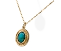 Gold Vintage Necklace with a Turquoise Stone