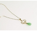 Gold Vintage Style Aventurine Necklace