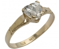 Gold Vintage Ring with Zircon