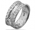 White Gold Vintage Ring with Cubic Zirconia