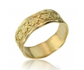 Gold Vintage Style Wedding Ring with Floral Handcrafting