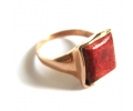 Antique style rosegold ring with a Coral stone