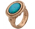 Gold Vintage Ring with Opal Gemstone