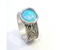 Silver Vintage Opal Ring side view