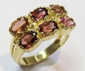 Vintage Style Gold Ring with Garnets