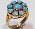 Vintage Style Gold Ring with Opals