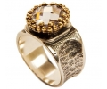 Gold and Silver Vintage Ring side view