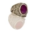 Silver Vintage Amethyst Ring