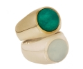 Gold and Silver Vintage Amazonite Ring