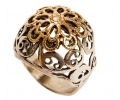 Gold and Silver Vintage Style Ring side view