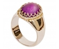 Silver 925 Vintage ring with Amethyst side view